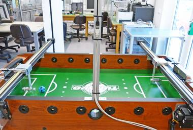 Automated soccer table